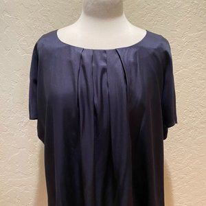 NWT Boden Ravella navy silk blend blouse Size 18